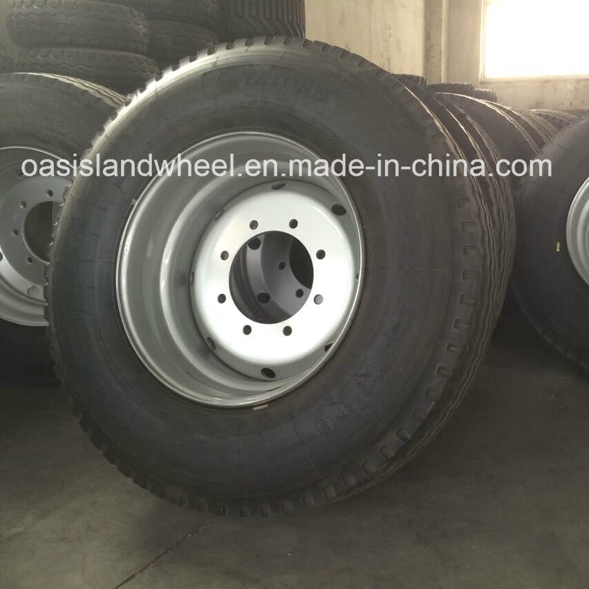 Wheel Assembly Truck Tire (385/65R22.5) with Steel Rim 11.75X22.5