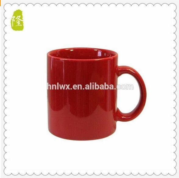 Wholesale 350ml 12oz Red Color Glazed Coffee Mug