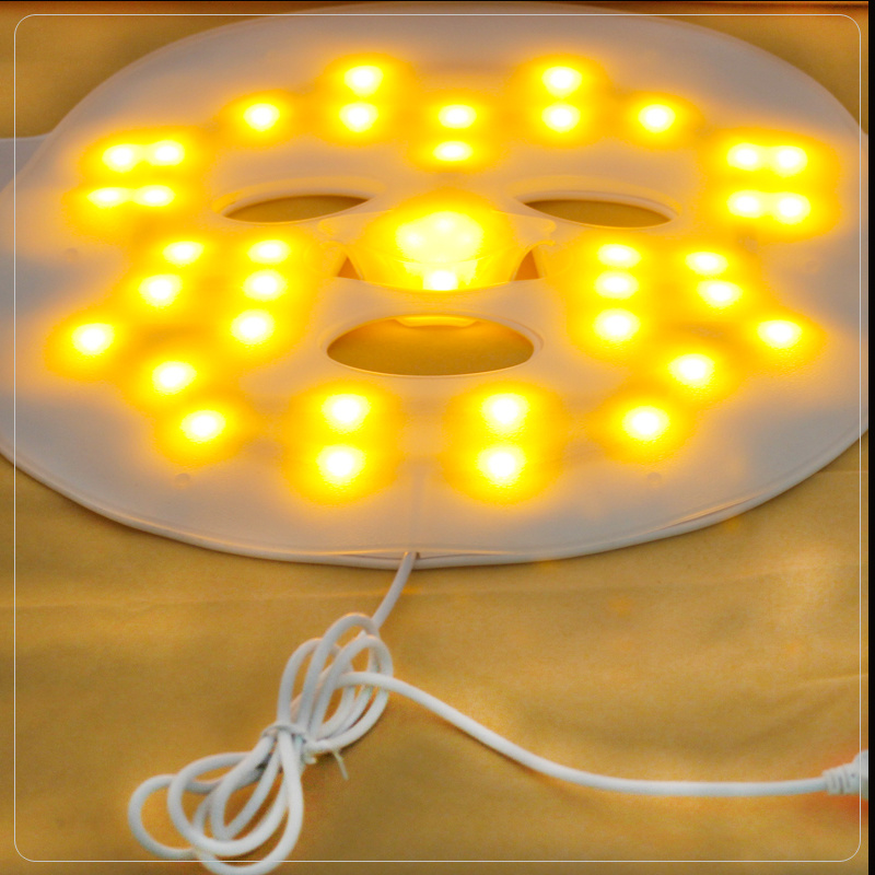 LED Light Photon Therapy Face Rubber LED Facial Mask