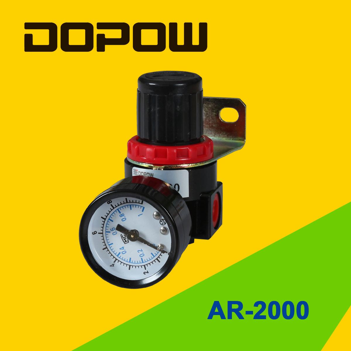 "Dopow Ar Br2000 Air Regulator with Gauge Bracket G1/8"""