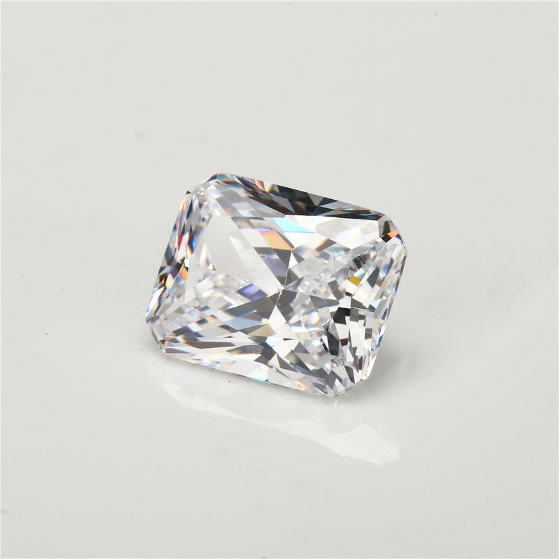 Russia Cubic Zirconia Brincos Zircon White Octangle Cut CZ Stone