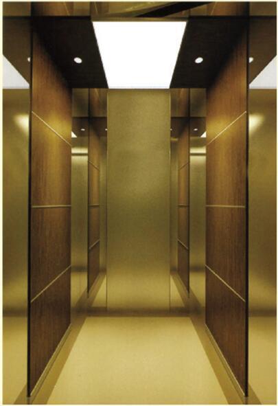 Wood Veneer Mirror Passenger Elevator (ALD-KC028)