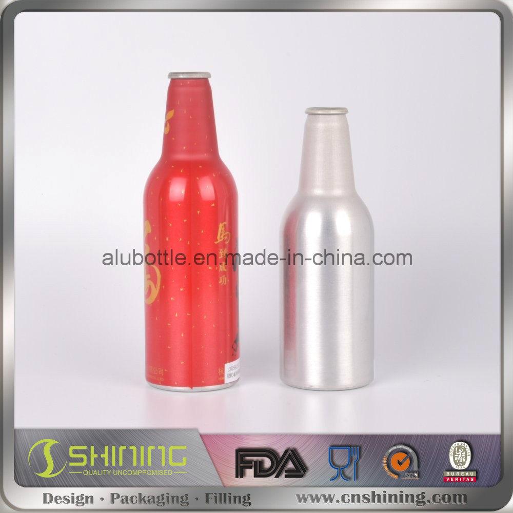Aluminum Beer Bottle with Crown Cap