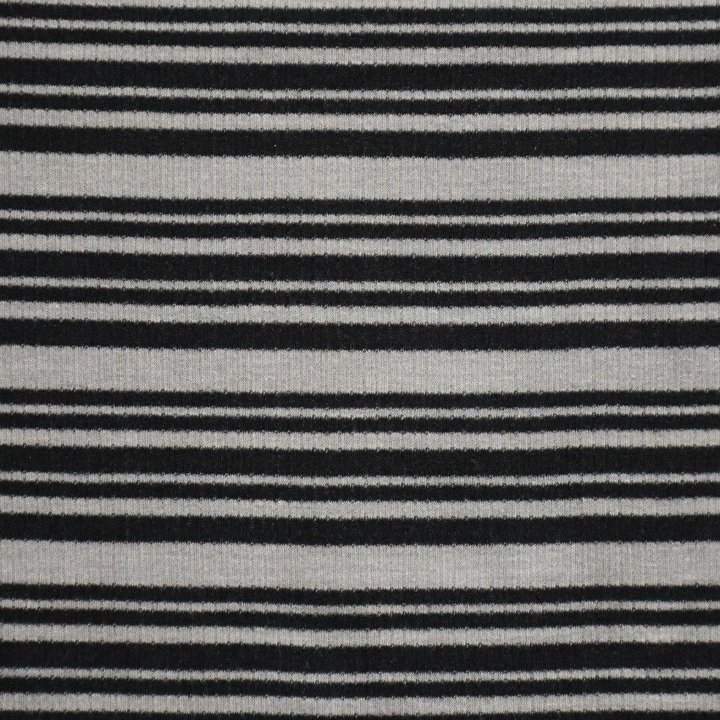 Yarn Dyed Stripe Rib Fabric for T-Shirts