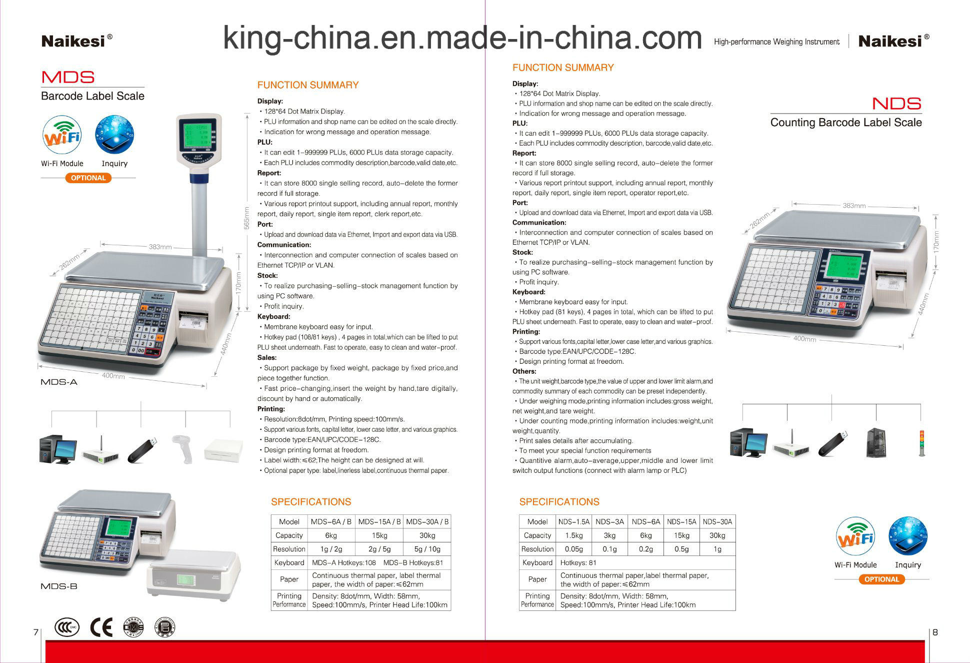 Cash Electronic Scale for Covenient Store by Using Internet Magagement