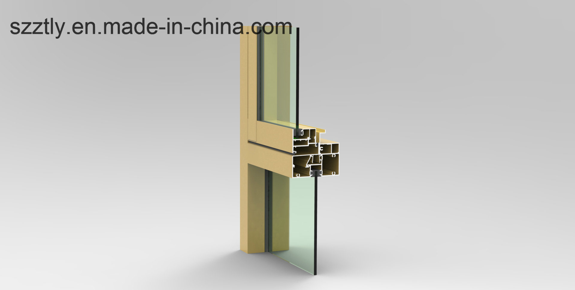 Aluminum Extrusion Alloy Windows/Doors/Fence/Tent Parts Profile