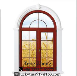 European Style Wood Casement Glass Special Windows