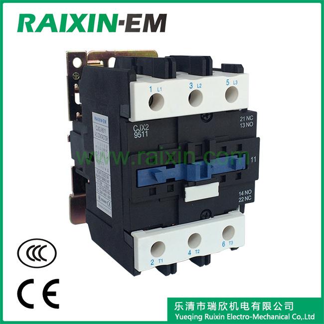 Raixin Cjx2-9511 AC Contactor 3p AC-3 380V 45kw Magnetic Contactor