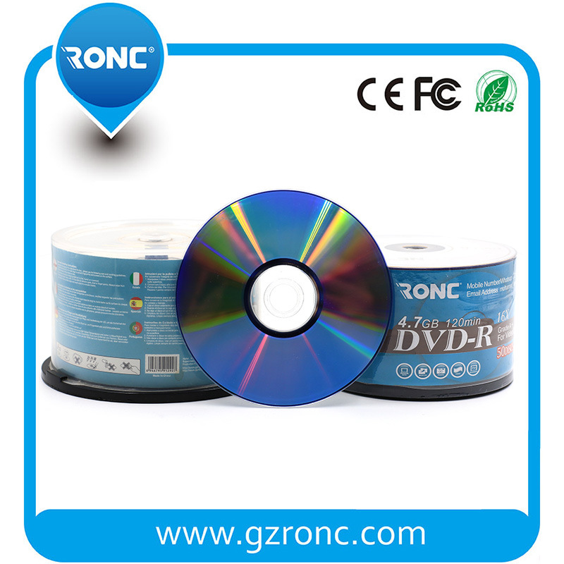 Grade a Single Layer 16X 4.7GB Blank DVD Disc Recordable