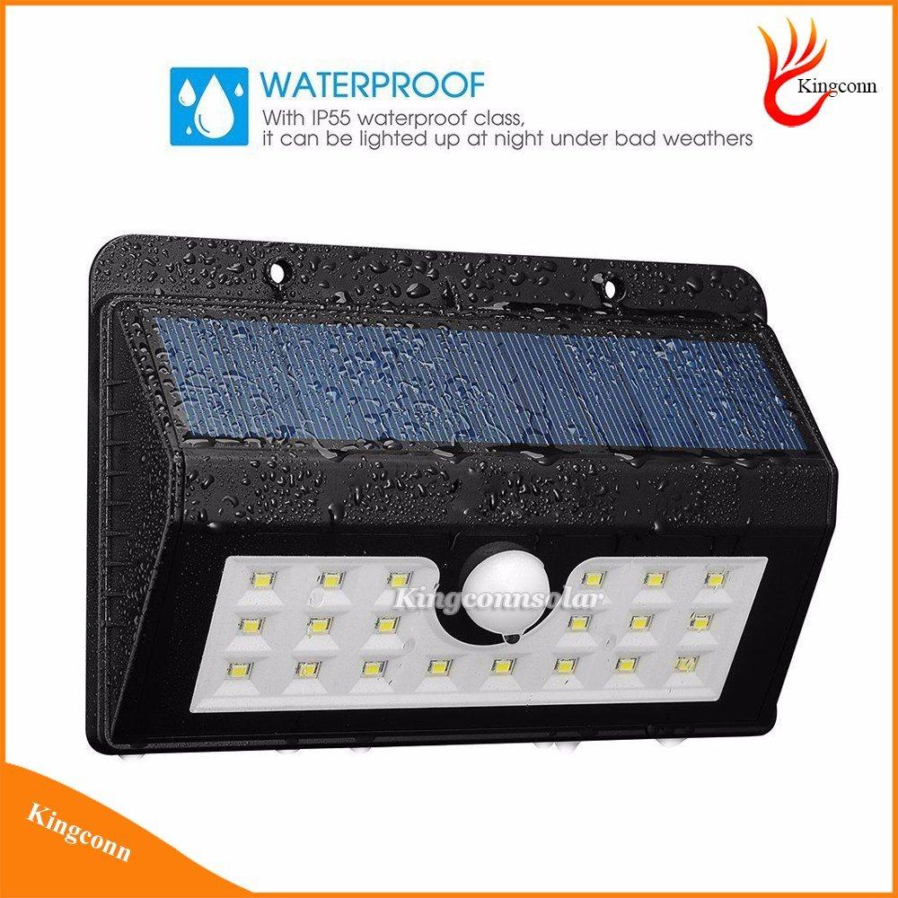 New Wireless 20 LED Solar Powered Garden Light with Waterproof IP65 PIR Motion Sensor Outdoor Fence Garden Pathway Wall Light