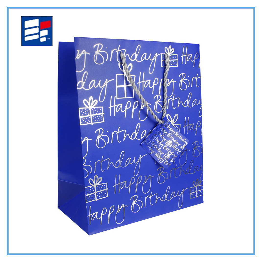 Coated Paper Handle Bag with Printing Custom Logo