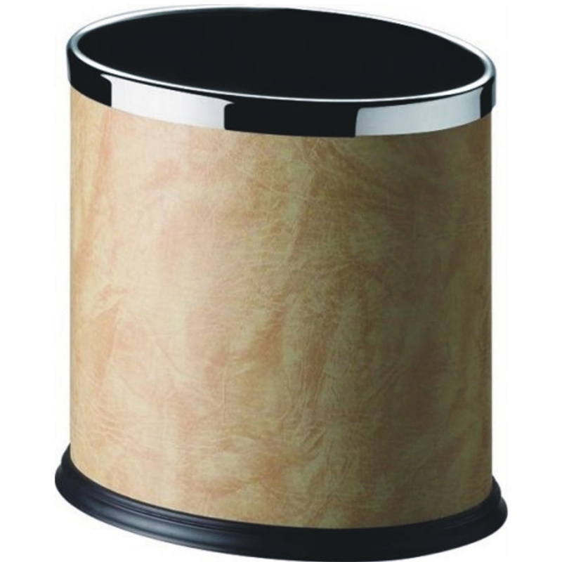 Fashion Special Luxury Black Powder Finish Double Layer Dustbin