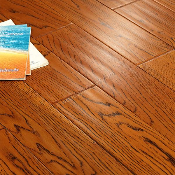 Oak Flooring Hardwood Floor with Handscraped Wood Flooring