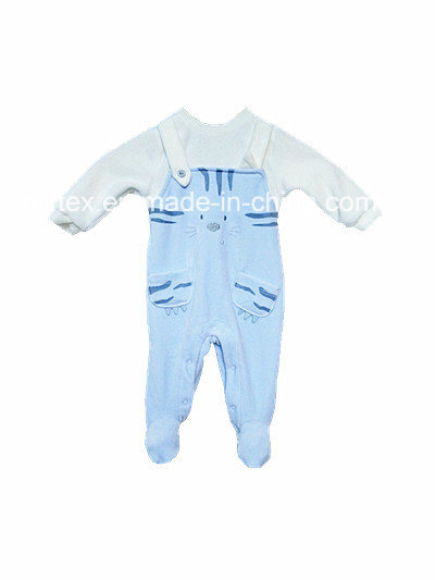 Polyester Velvet Romper for Infant