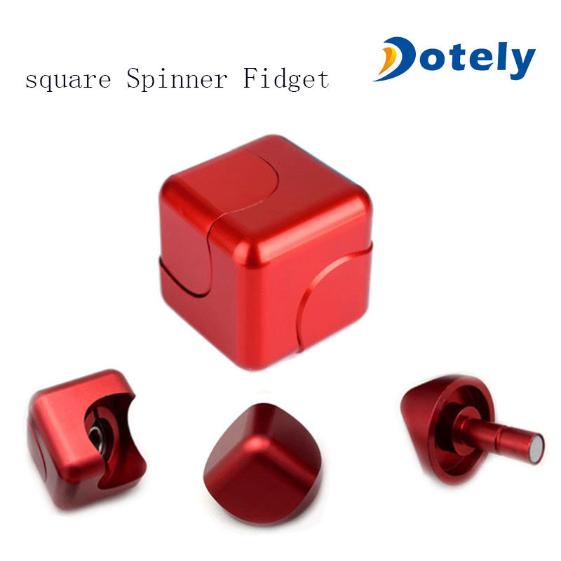 Metal Square Spinner Cube Fidget for Kids and Adults