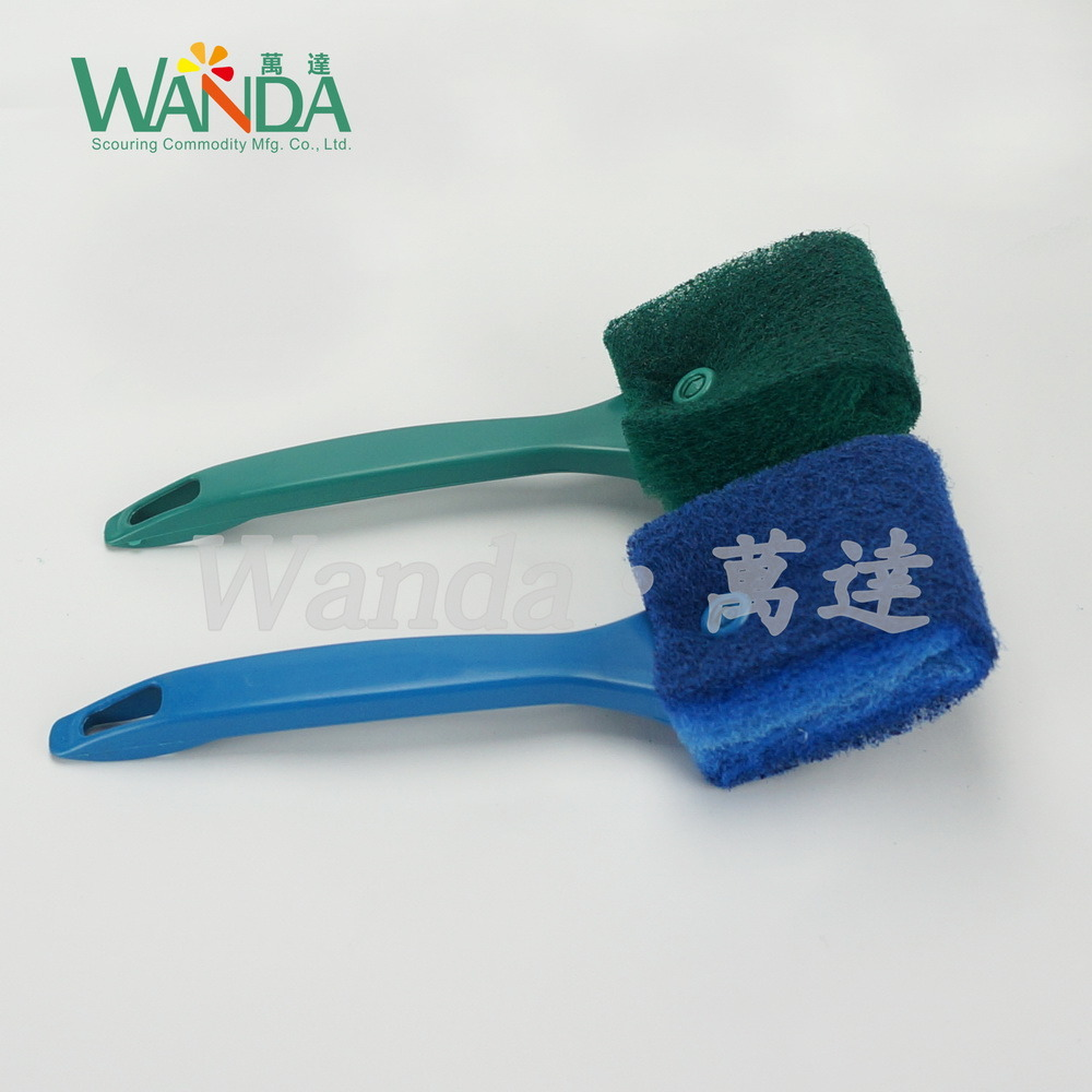 Thickening Kitchen Cleaning Brush Scouring Brush Pad with Short Handle