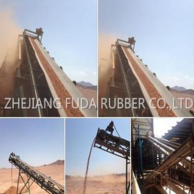 Anti Flame Anti Static Steel Cord Rubber Conveyor Belt St800