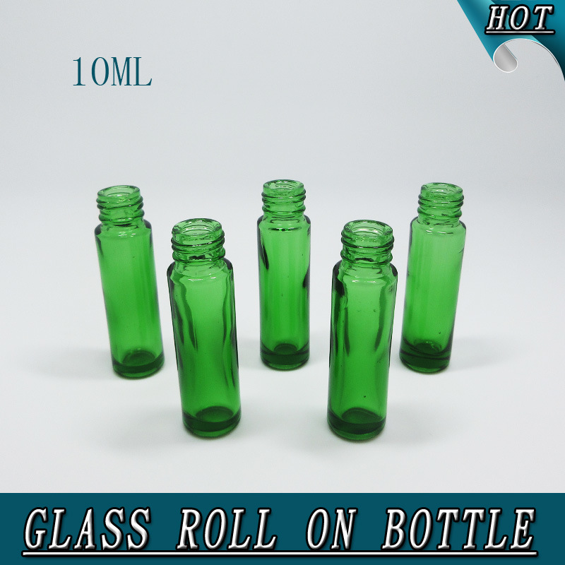 10ml Column Green Essential Oil Roll on Glass Bottle