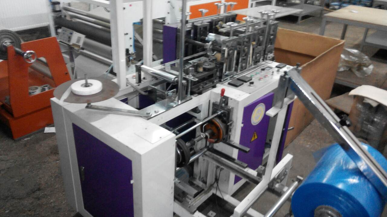 Shoe Cover Making Machine with Round Elastic for Pakistan