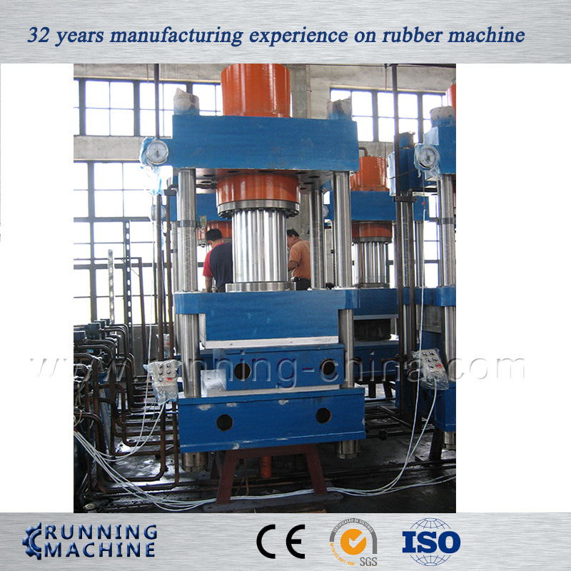 Four Column Type Rubber Vulcanizing Press Machine for Solid Tyre