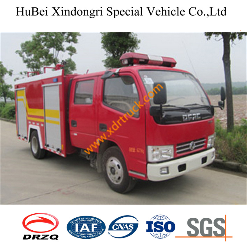 Professional Supply 3ton Dongfeng Cummins Fire Fighting Truck Price Euro4