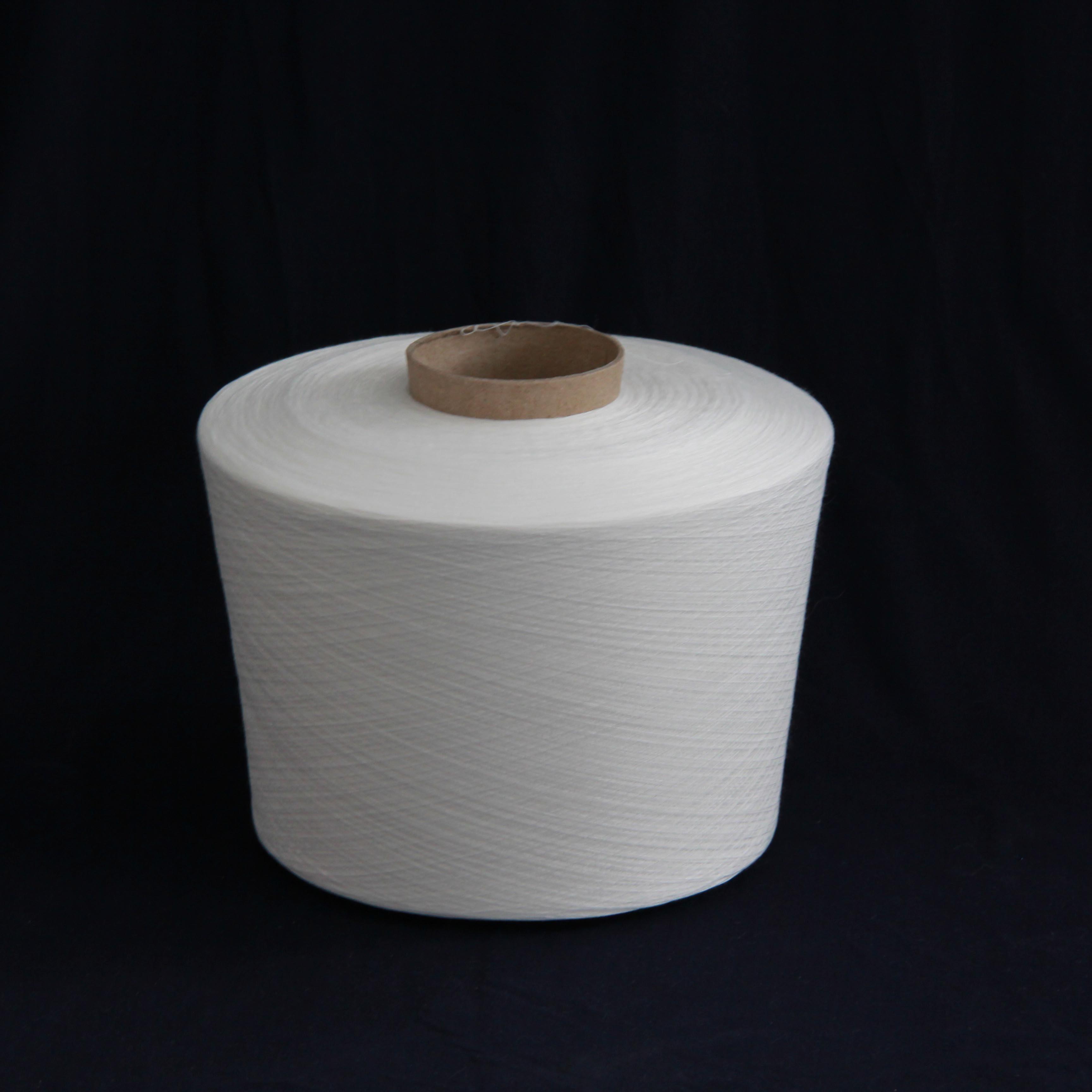30/1 32/1 Raw White 100% Polyester Spun Knitting Yarn