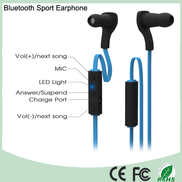 Built- in Microphone Wireless Bluetooth Headset Sport Stereo Headphone (BT-188-B)
