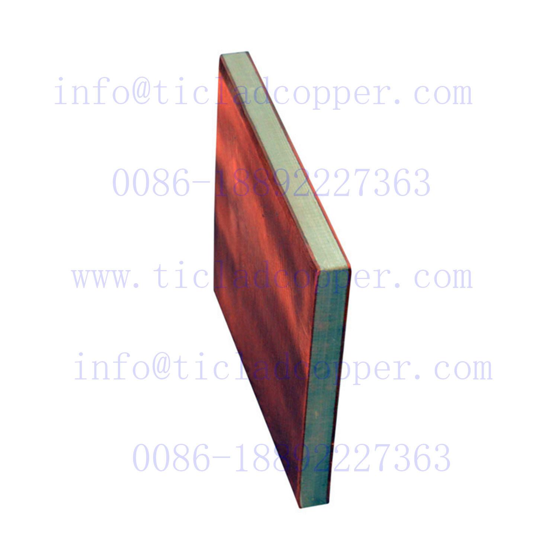 Metallurgical Bond/Explosion Bonding Titanium Clad Copper Sheet/Plates