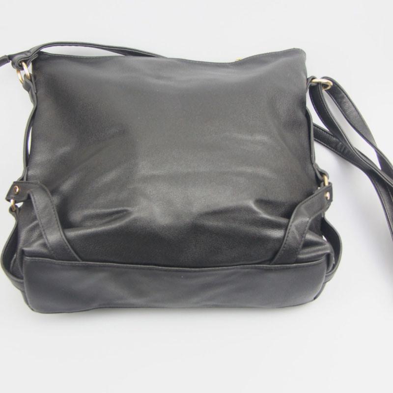 Black PU Handbags for Women Shoulder Bag Fashion Accessory