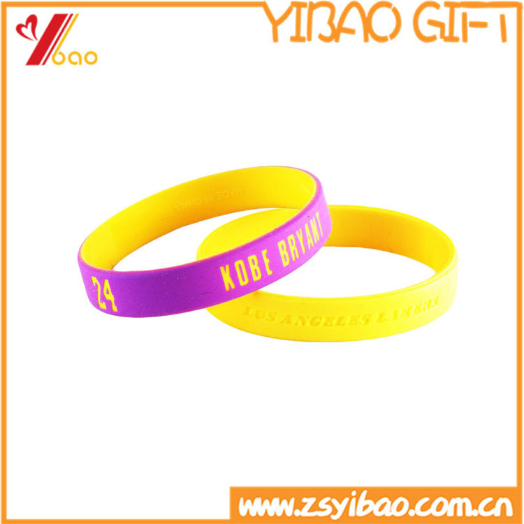 Custom Logo Printed Silicone Wristband for Promotional Gift (YB-SM-12)