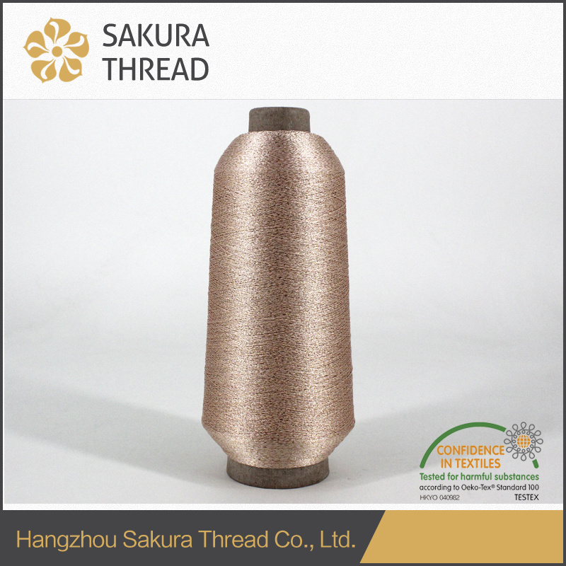 Pure Gold Polyester Metallic Thread