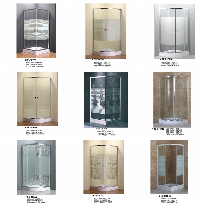 Sector Tray Painting Cross Strip Shower Cubicle