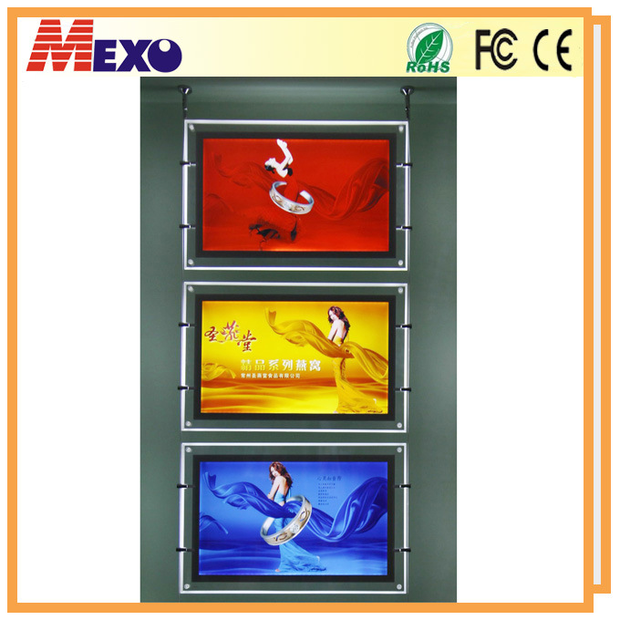 Hanging Acrylic Frame Light Box Display