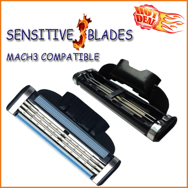 Compatible with Gillette Mach3 Power Shaving Razor Blade (4PCS/lot)