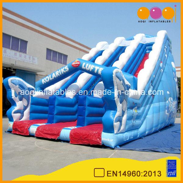 Durable Lane Gaint Inflatable Ocean Slide (AQ01138)
