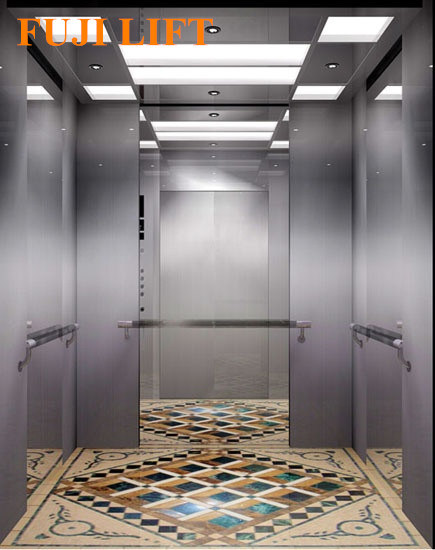 Center Opening Passenger Elevator Hairline Stainless