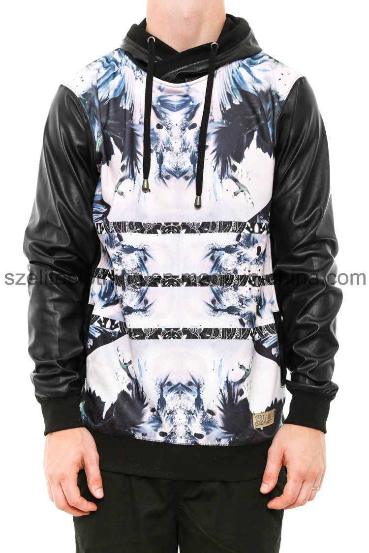 Cotton Custom Printed Men Pullover Hoodies (ELTHSJ-309)