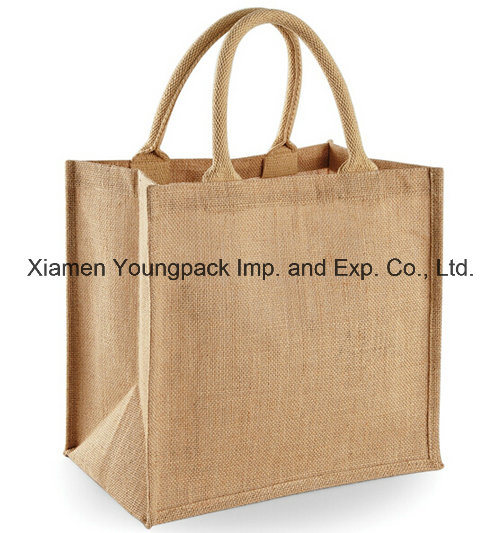 Wholesale Bulk Custom Printed Eco Friendly Reusable Jute Flat Tote Bags