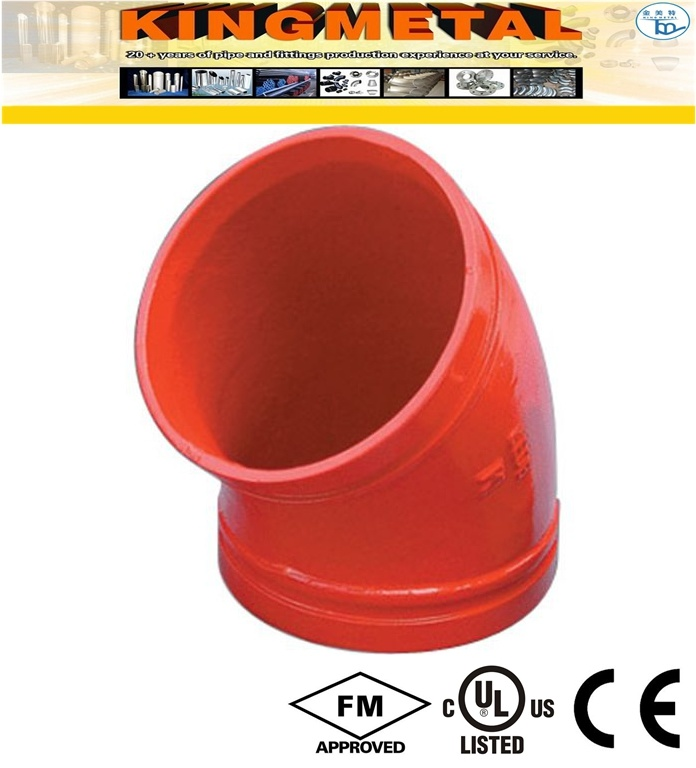 """300 Psi 4"""" Ductile Iron Grooved Fittings 90 Degree Elbow"""