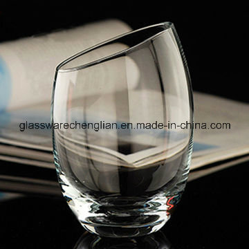 Crystal Whiskey Glass Cup with Slant Top (B-C017)