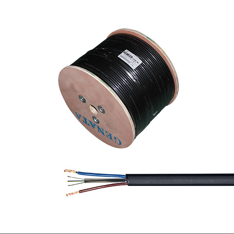 Single Mode 2 Core Fiber Optic Cable +2*0.5mm Power Cable