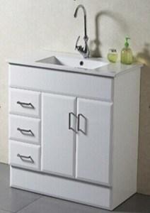 New Design Floor Mounted Solid Bathroom Vanity Cabinet (AB-90)