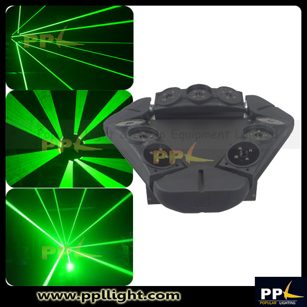 RGB/Green Laser Spider 9heads Moving Head DMX Stage Lighting