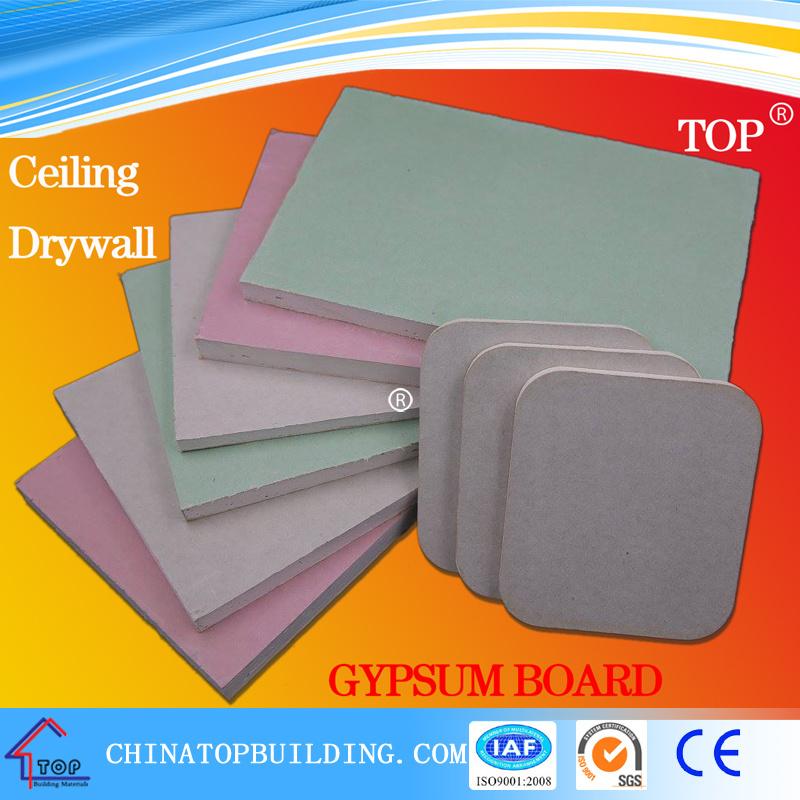 Standard Gypsum Board/Fireproof Gypsum Board/Waterproof Gypsum Board/Moistureproof Gypsum Board/Gypsum Board