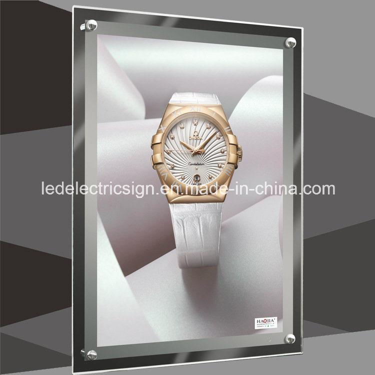 Wall Mounted LED Light Box with Watch Shop Display