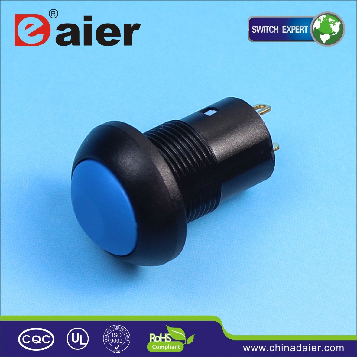 12mm Small on off Latching Push Button Switch (DS-12B-L)