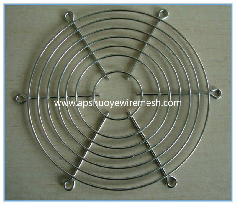 OEM Round Galvanized Coated Metal Wire Mesh Fan Guard