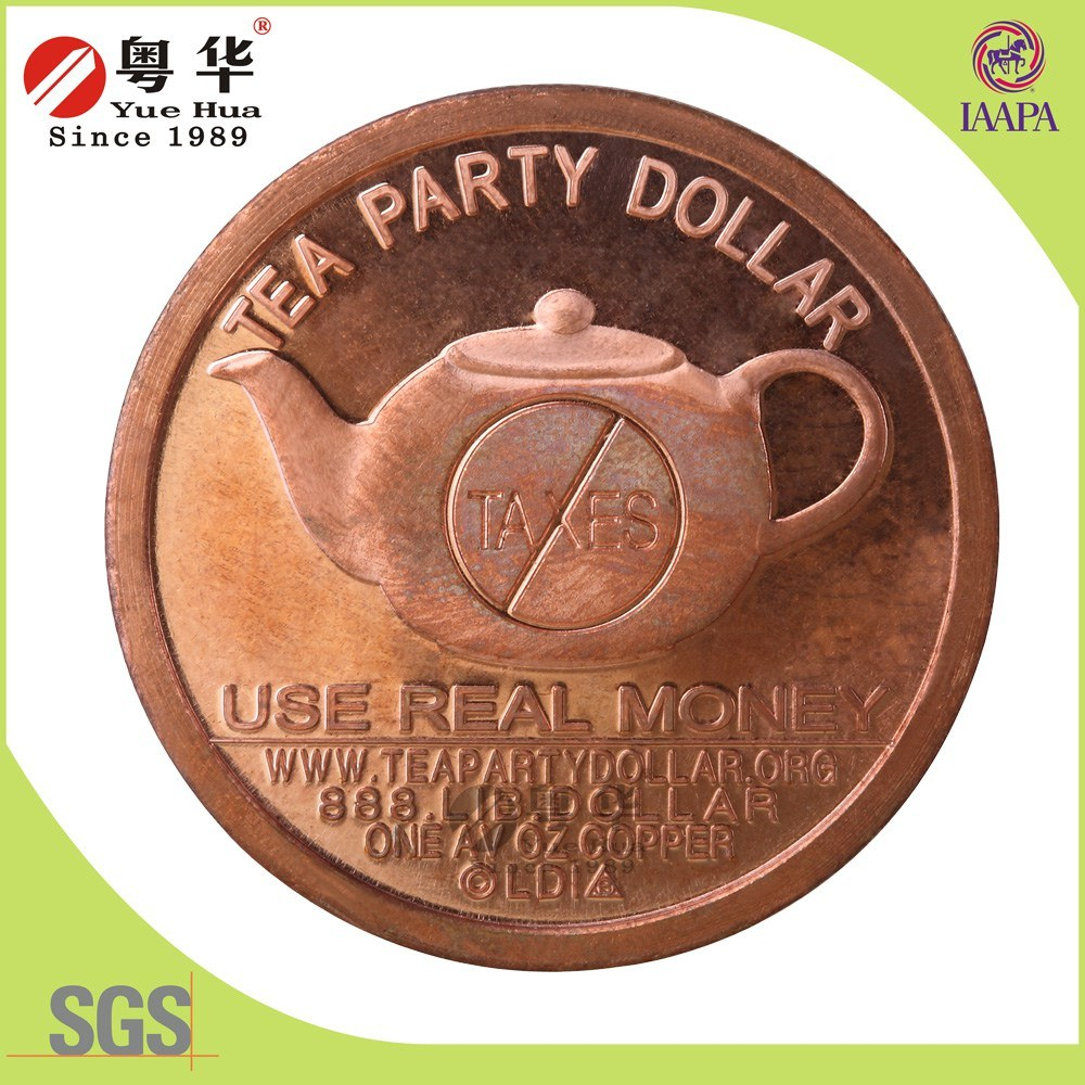 Custom Antique Copper Coin