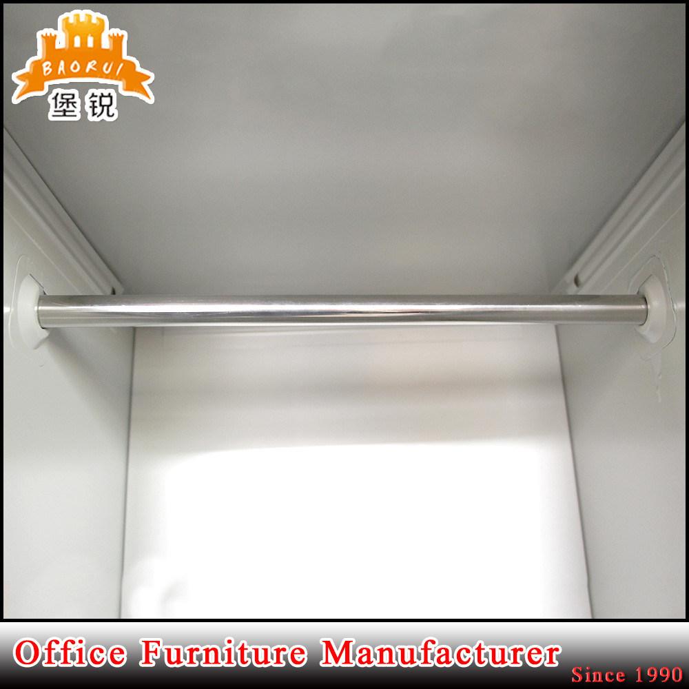 Double Door Steel Office Furniture Metal Style Wardrobes Cabient Locker