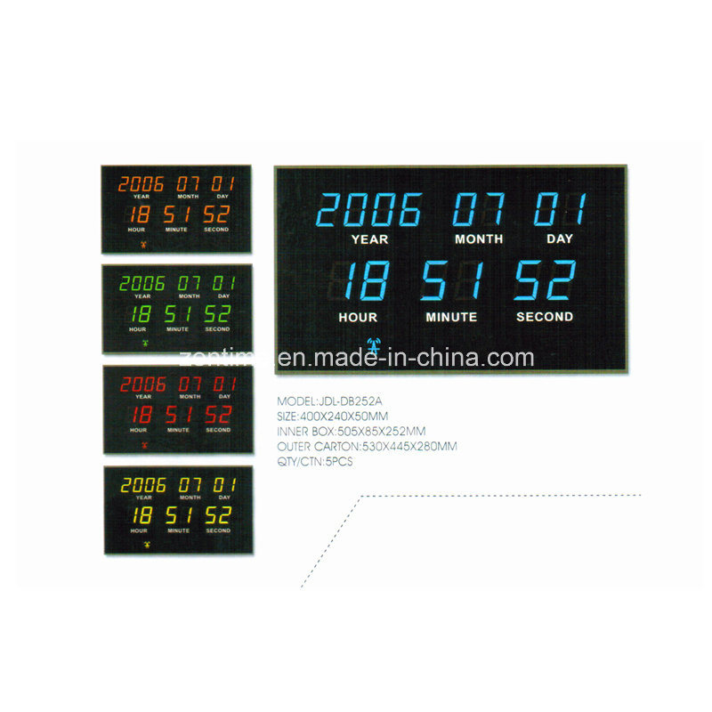 Electric Radio Controlled LED Digital Wall Calendar Clock